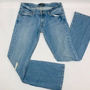 Levis 524 Womens Jeans 7M Blue Too Superlow Boot